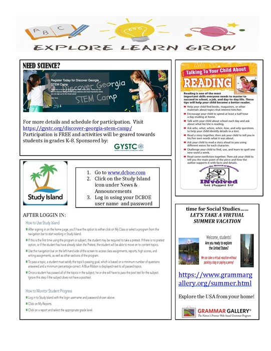 Summer Learning Page 2
