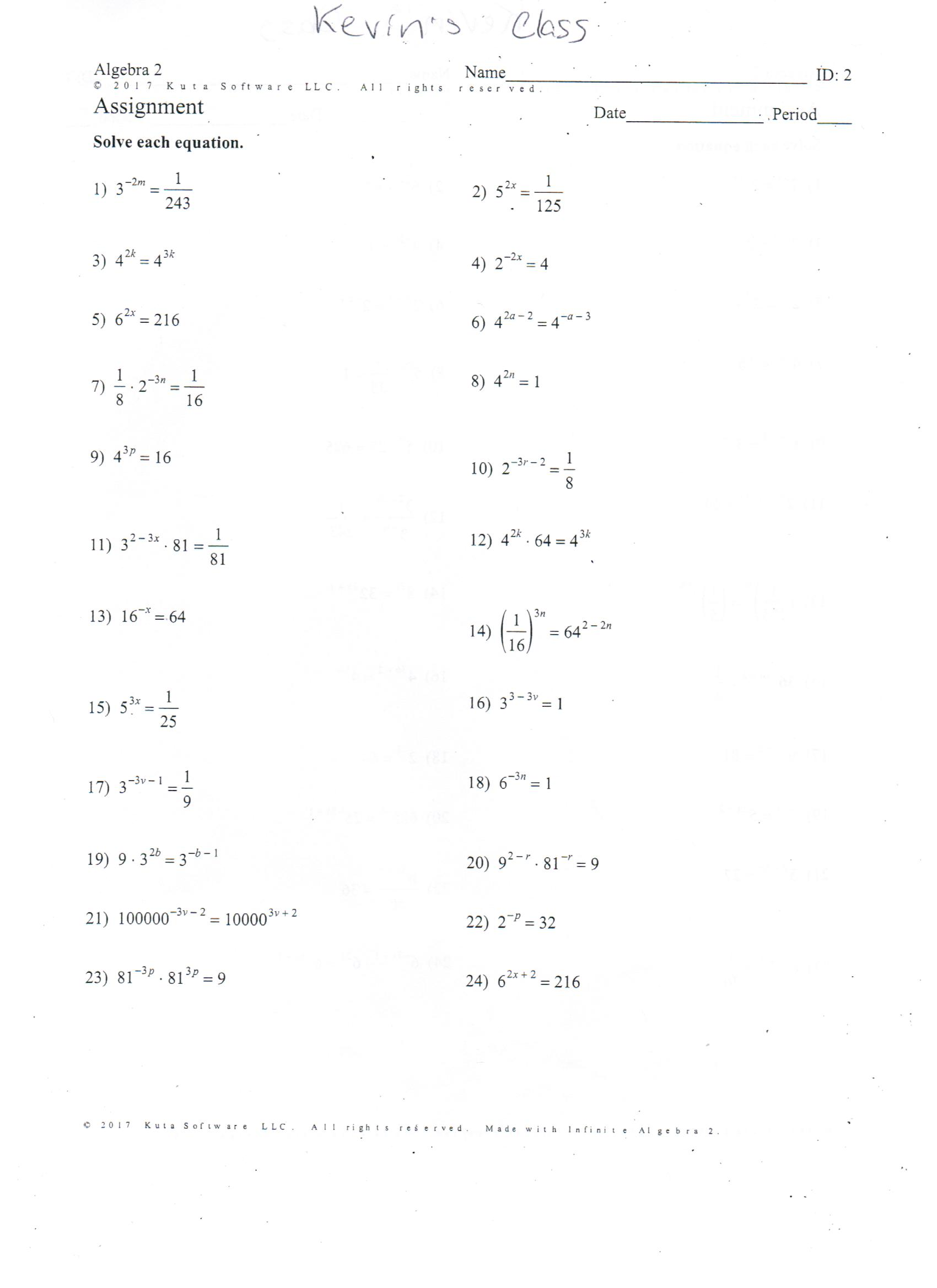 worksheet Solving Quadratic Equations Worksheet algebra 1 solving quadratic equations by factoring worksheet talkchannels